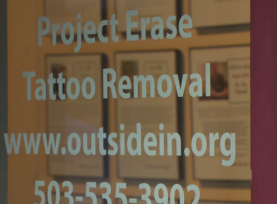 Outside In removes tattoos by appointment at a clinic on West Burnside  Street. (Sean Broderick/KATU)