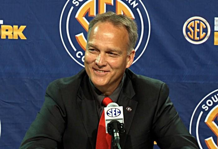 Mark Richt during his SEC Championship game news conference on Friday. (abc3340.com)