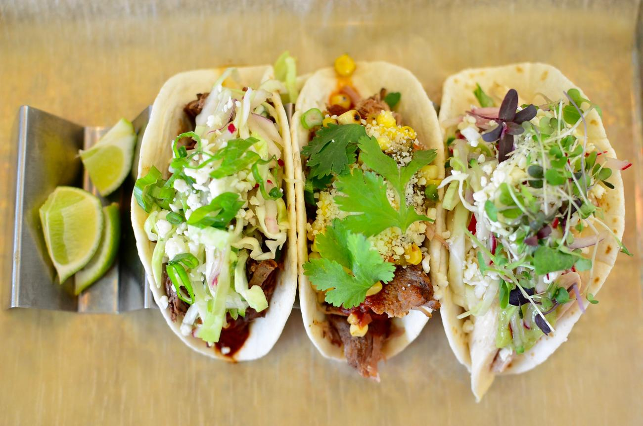 Beef, pork, and chicken tacos / Image: Leah Zipperstein, Cincinnati Refined // Published: 5.13.17