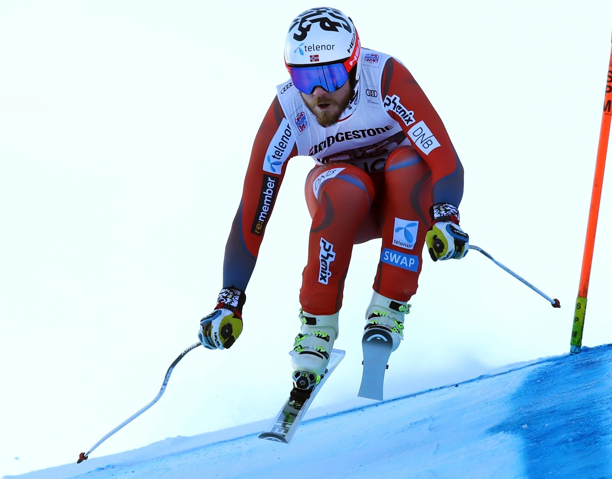 File- This jan. 12, 2018, file photo shows Norway's Kjetil Jansrud competing during the first portion of an alpine ski, men's World Cup combined race, in Wengen, Switzerland. The Olympic speed courses at Jeongseon were raced just once on each World Cup circuit. Two years ago, Jansrud averaged more than 60 mph (100 kph) while winning by 0.20 seconds, a solid winning margin. (AP Photo/Alessandro Trovati, File)