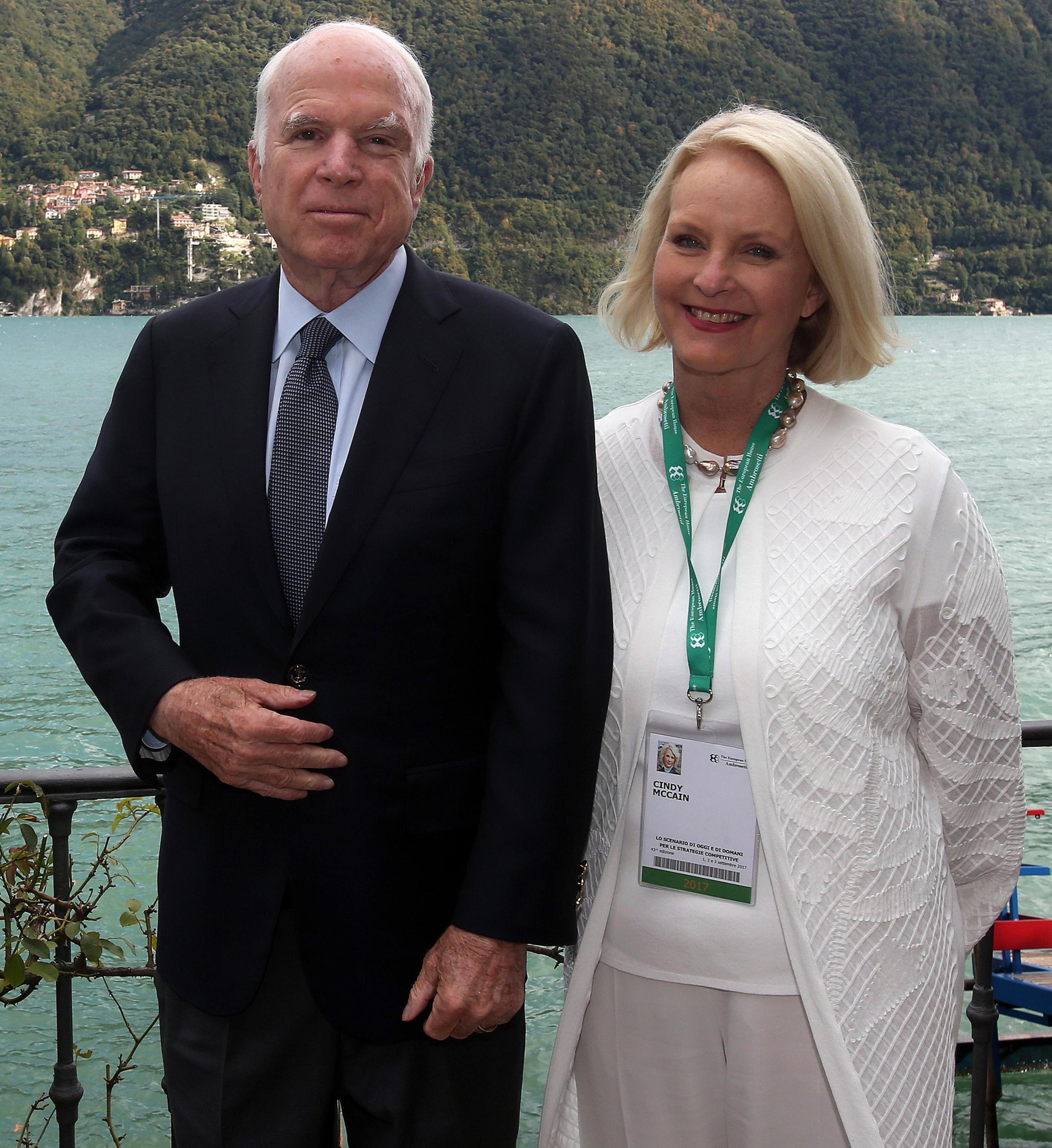 Mccain Family: McCain Attends Italy Forum Before Congress Returns To Work