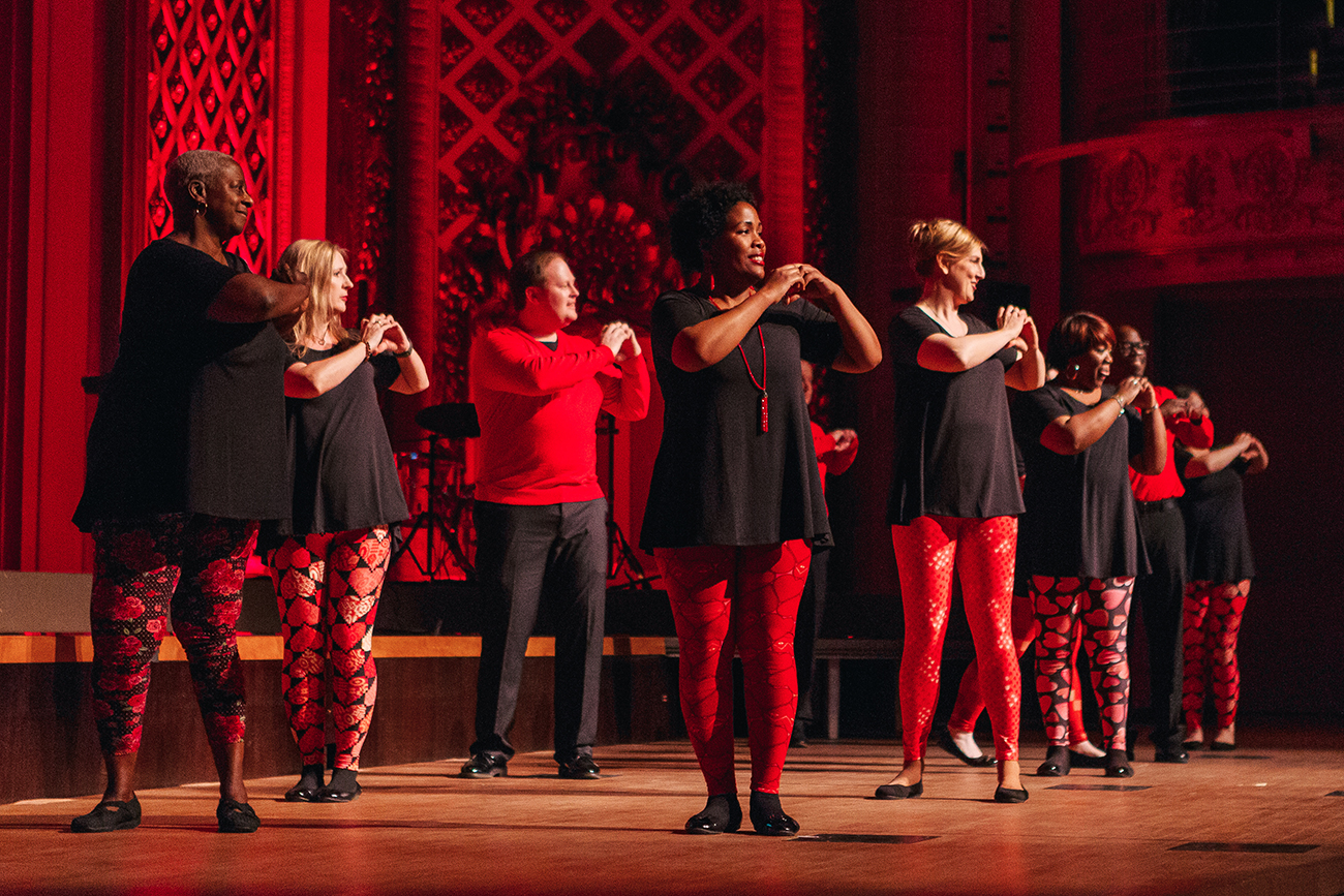 "ArtsWave CincySings, brought to you by Accenture, showcases the singing talent at some of Greater Cincinnati's largest companies, including Western & Southern's ""Harmony of Hearts"" team. This year's CincySings finals will be on April 9 at Music Hall. / Image: Good Story Co."