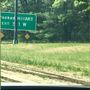 Crooked Hill Road exit sign altered to read Crooked Hillary