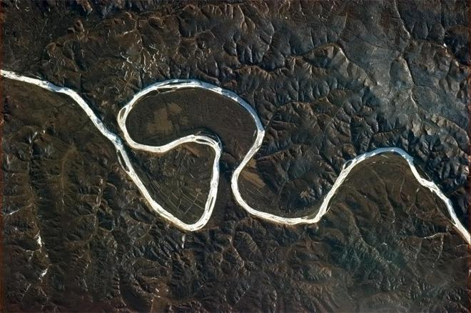 This river's about to take a short cut. (Photo & Caption: Col. Chris Hadfield, NASA)