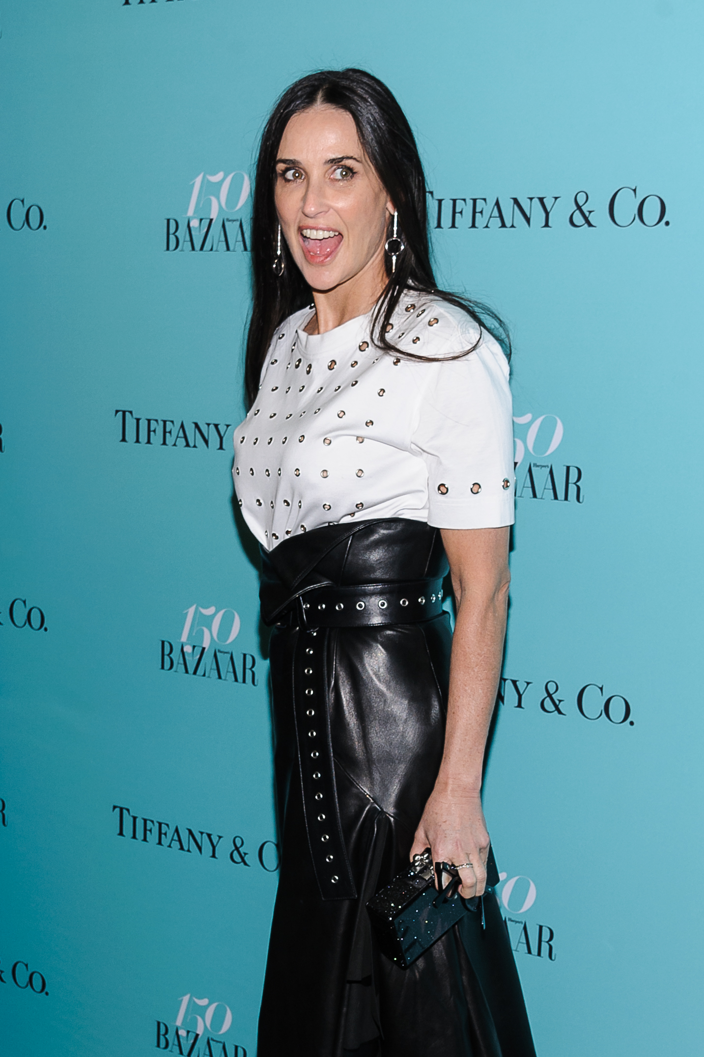 Demi Moore arrives at Harper's Bazaar 150th Anniversary at the Rainbow Room in New York April 19, 2017. (C.Smith/WENN.com)