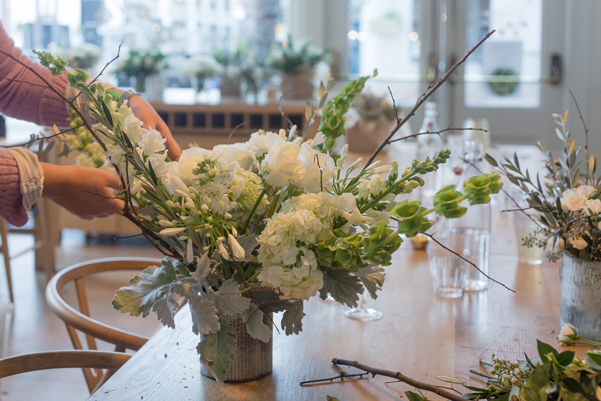 Our turn to play with the flowers.(Image: Paola Thomas / Seattle Refined)