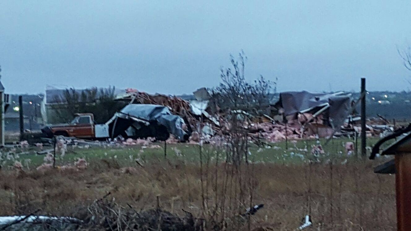 Damage in Kyle, Texas (Courtesy of viewer Mauricio Ruiz)