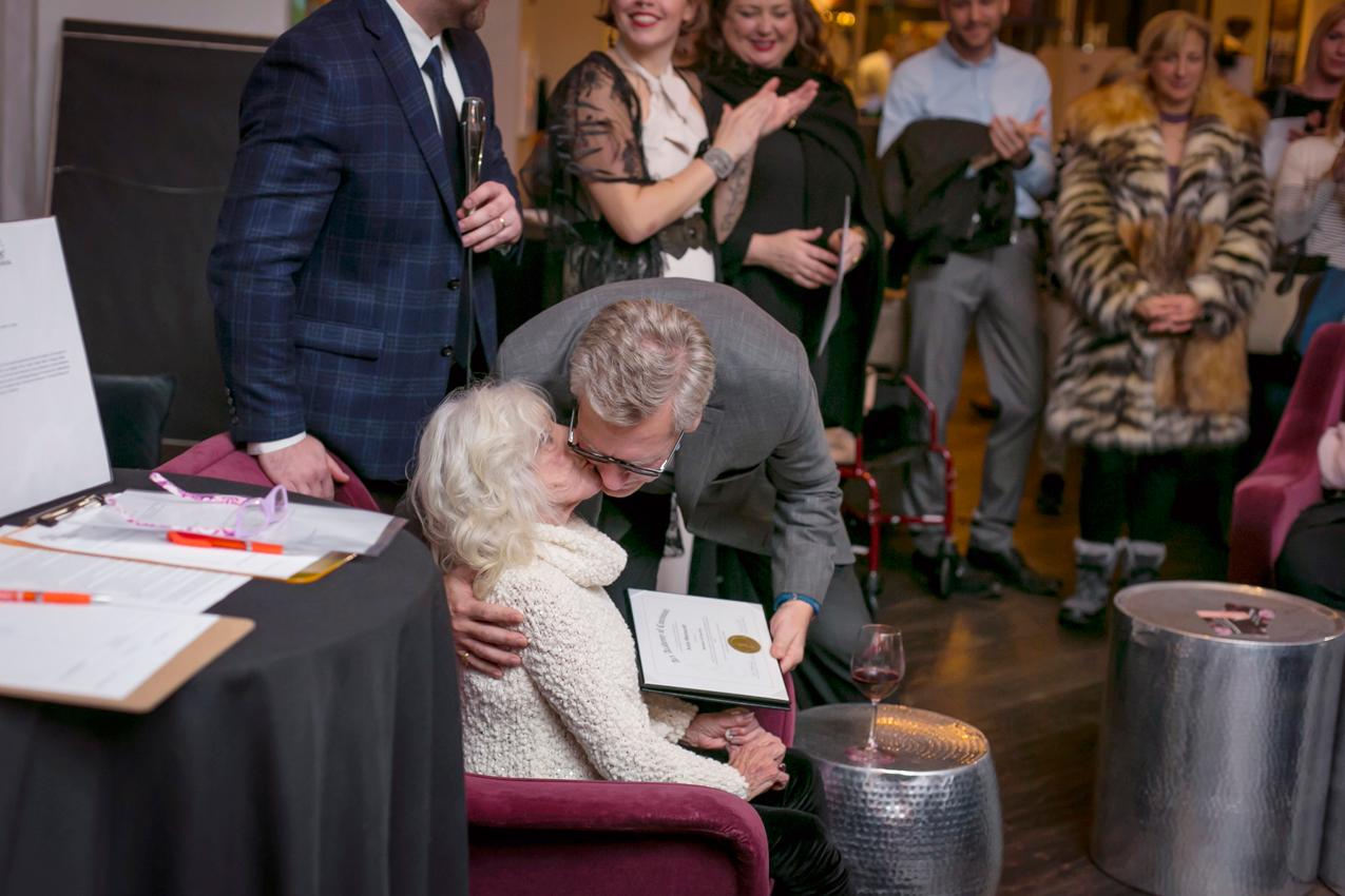 Anne Wainscott, the guest of honor/ Image: Mike Bresnen Photography // Published: 11.16.18