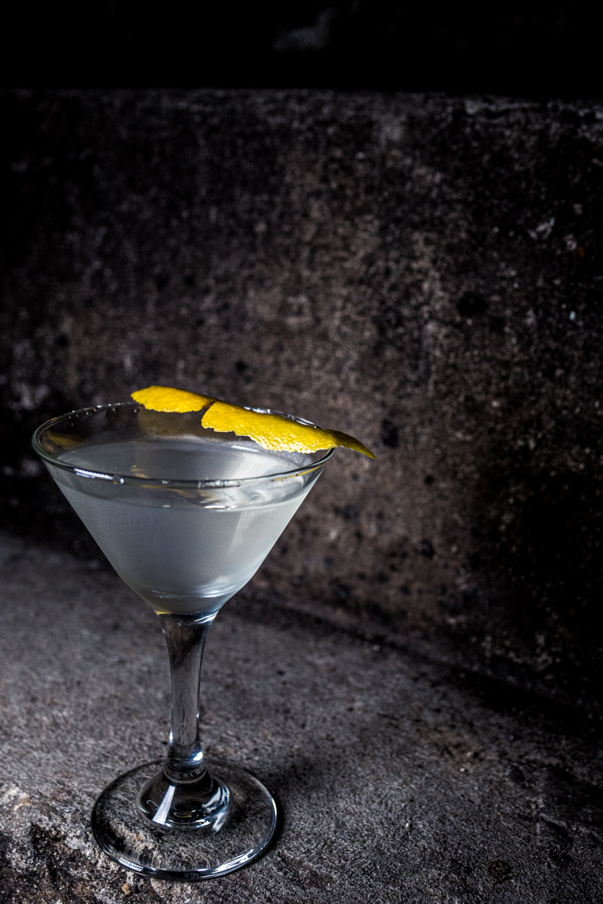 Gin Martini: gin, dry vermouth, and a lemon peel / Image: Catherine Viox // Published: 3.3.20