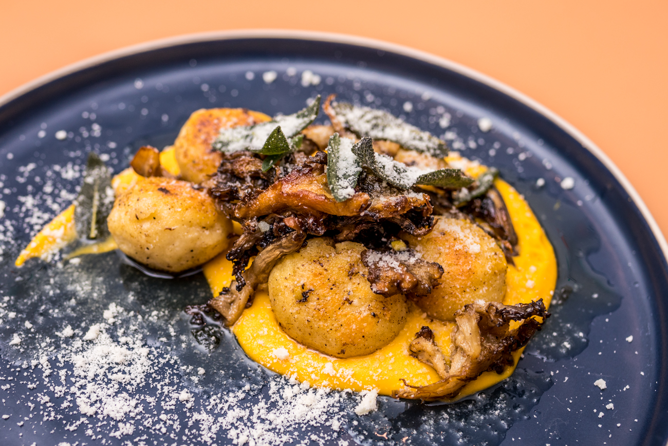 Ricotta Gnocchi: housemate ricotta, butternut squash, brown butter, shiitake mushrooms, sage, and parmigiano / Image: Catherine Viox // Published: 2.13.21