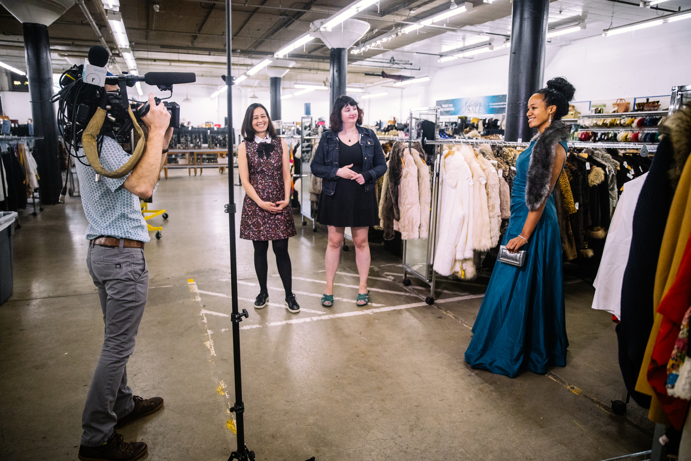 Seattle Goodwill's epic Glitter Sale (November 10th and 11th) is the event of the season for folks who love scoring fashionable finds at deep discounts. You can find amazing designer duds, vintage pieces, coats, shoes, jewelry and much more.{ } (Photo Courtesy Seattle Goodwill)