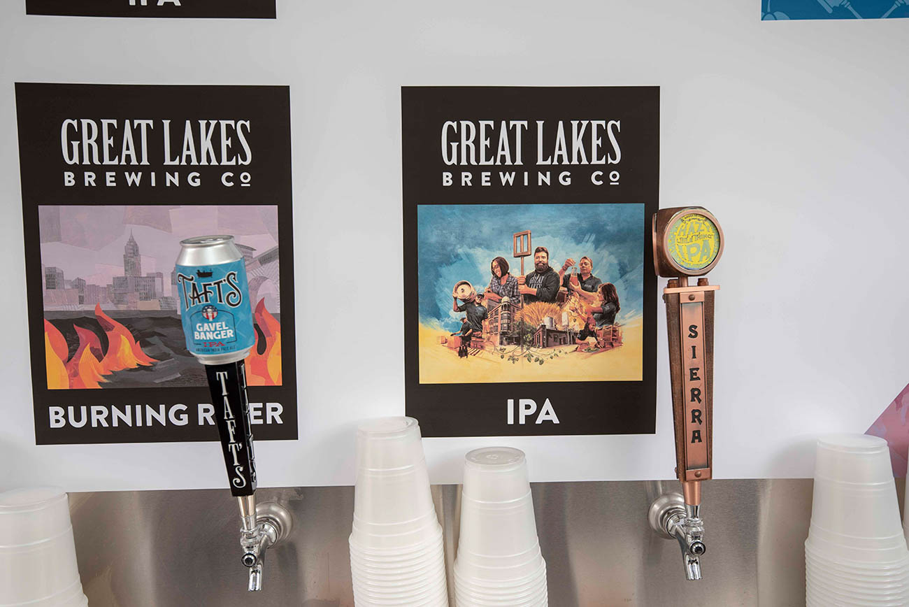 Great Lakes Brewing Co. was a sponsor of the event. / Image: Joe Simon // Published: 4.5.19