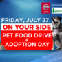CBS 13/Fox 23 to host annual Pet Food Drive on July 27