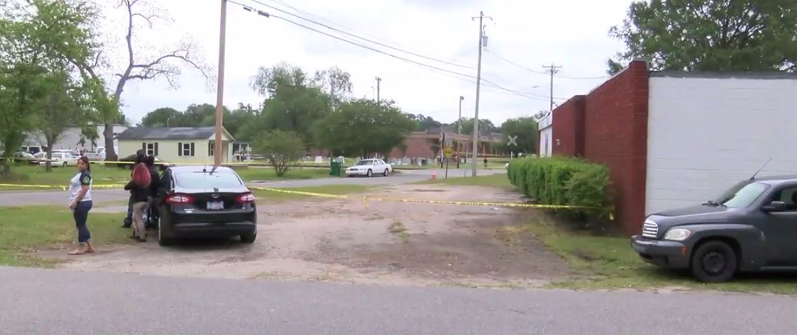 One body was found Tuesday morning at a home in the 500 block of Peachtree Street and the other was across the street in the 700 block of East 5th Street. (Tonya Brown/WPDE)