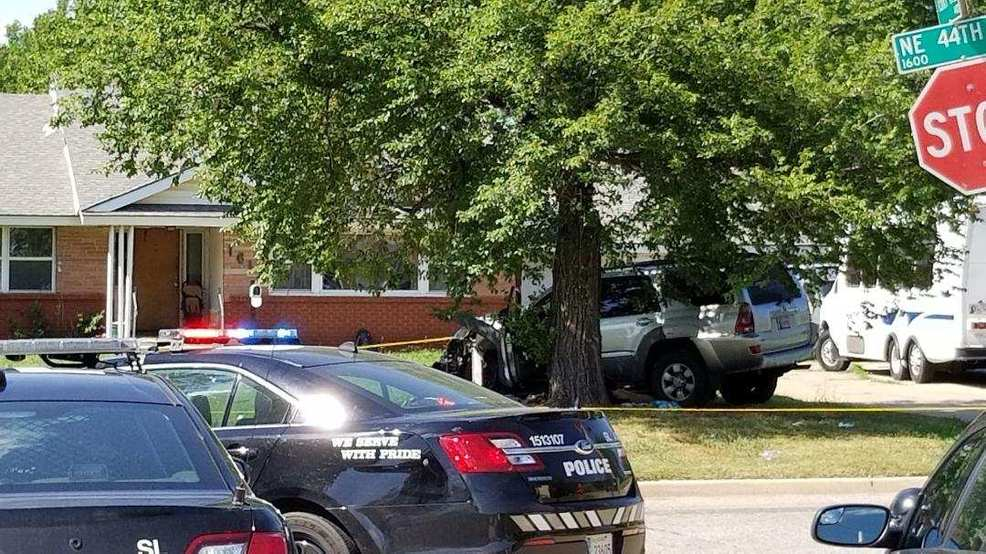 Oklahoma City police respond to crash, find shooting victim | KOKH
