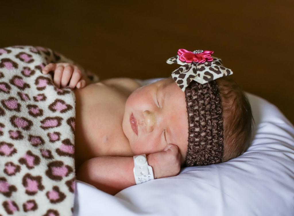 Carissa, our Baby of the Day for March 8, 2016. Photo courtesy of Palms West Hospital and Bella Baby Photography
