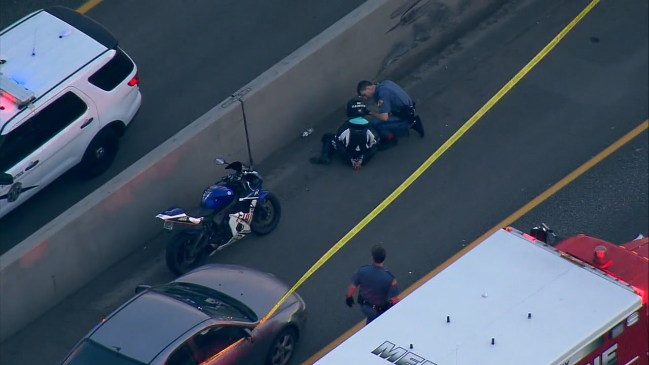 A man was shot and killed in road rage incident on I-5 near Milton Thursday, Feb. 8, 2018. (KOMO News/Air 4)<p></p>