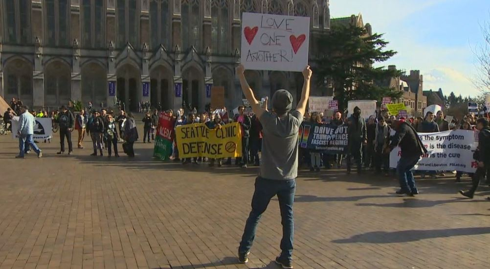 Day of protests at UW (KOMO News)<p></p>