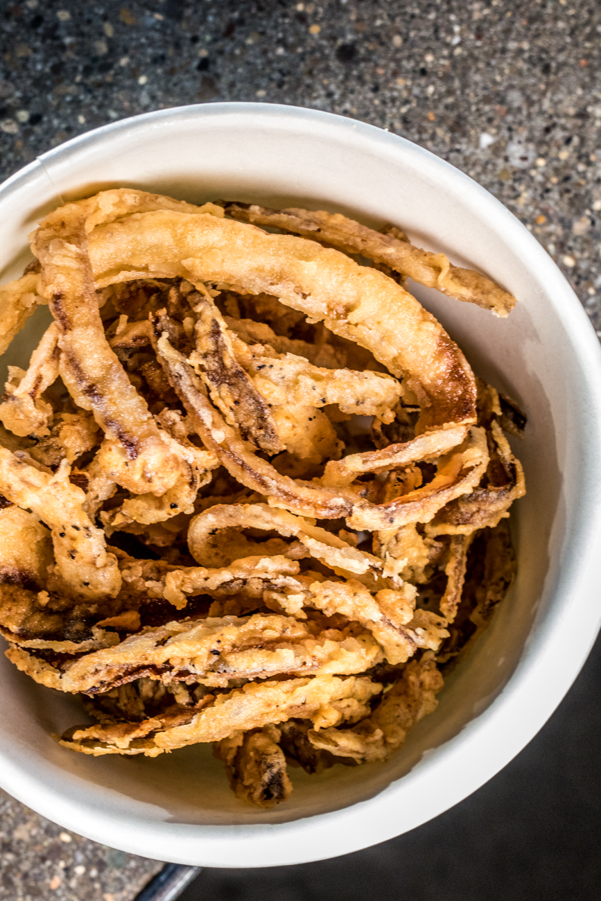 Side of crispy onions / Image: Catherine Viox{ }// Published: 6.17.20
