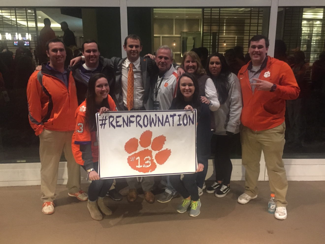Renfrow family before National Championship game.  (Photo Credit: Suzanne Renfrow)