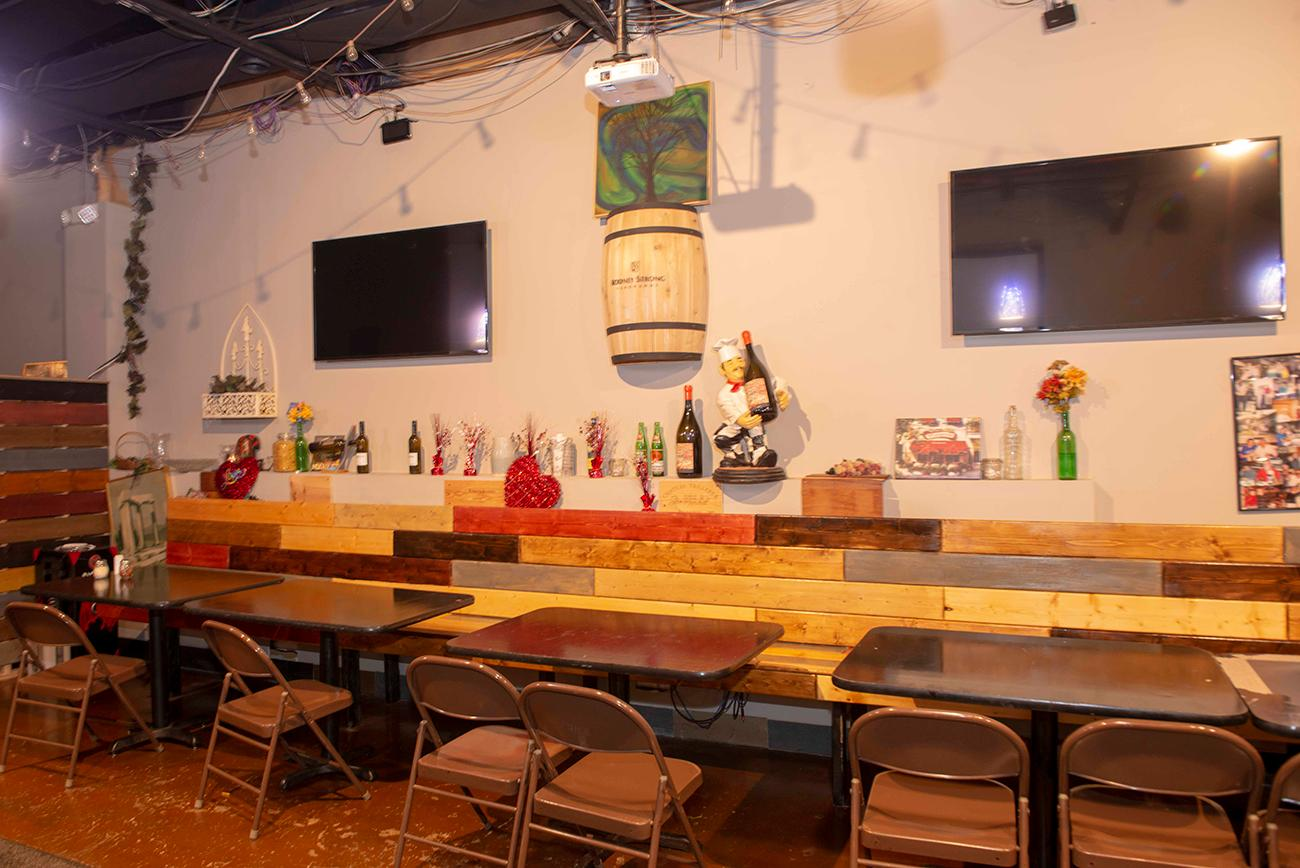 The private side room is available to rent for parties and events.{ }/ Image: Joe Simon // Published: 3.10.19