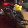 Driver survives after vehicle is hit by train