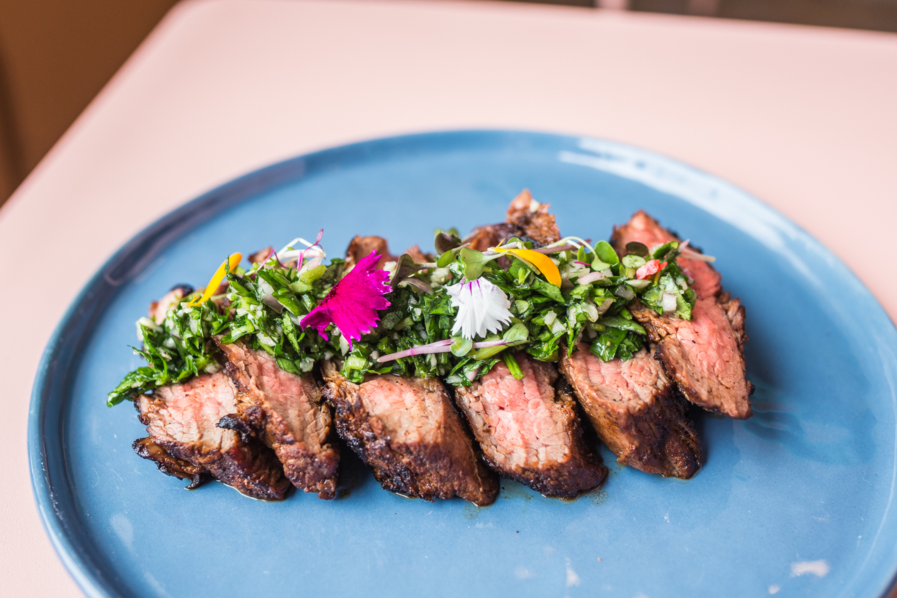 Weekly Butcher's Cut: flag steak topped with chimichurri / Image: Catherine Viox // Published: 4.11.19