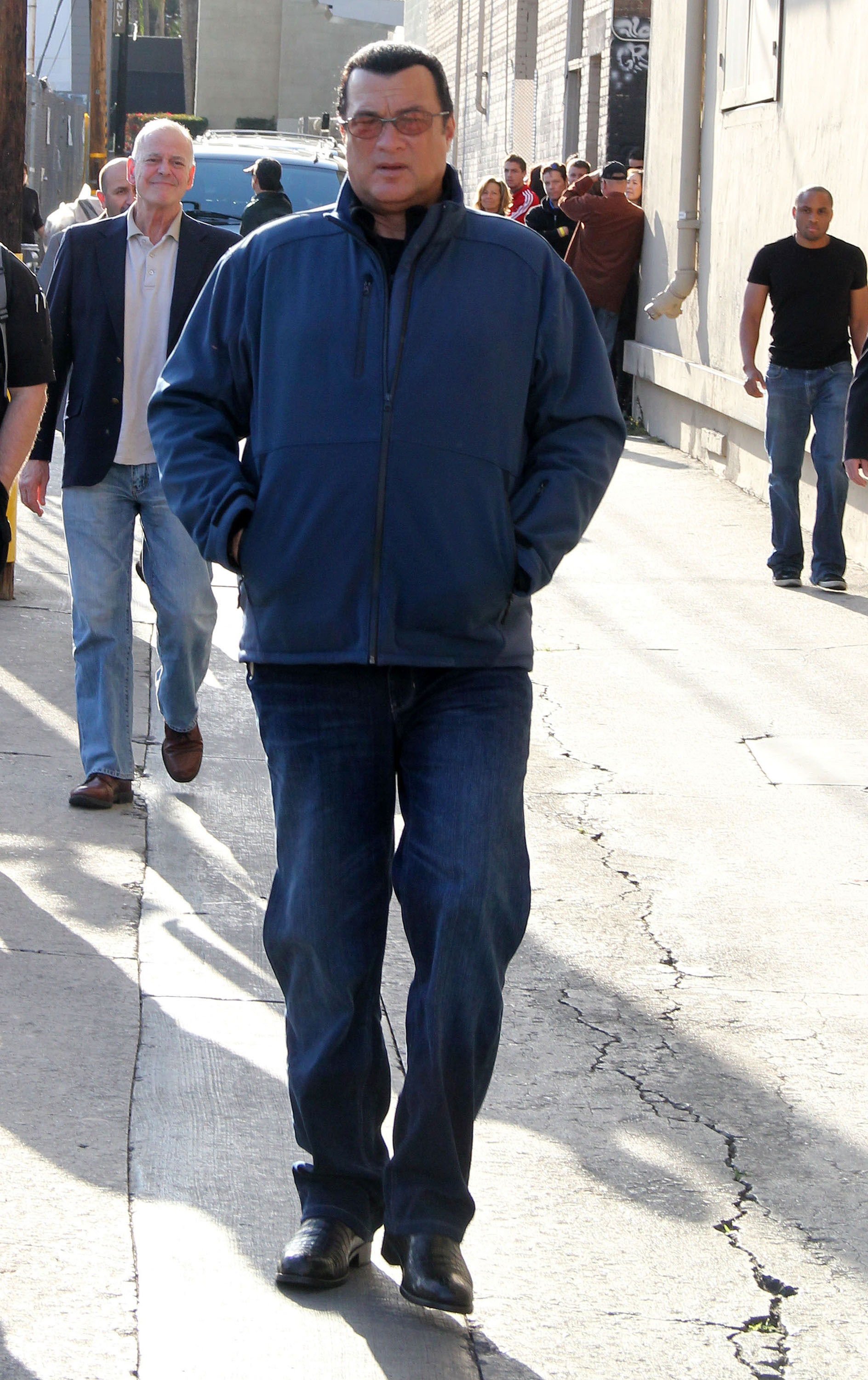 Steven SeagalCelebrities outside the 'Jimmy Kimmel Live!' studiosLos Angeles, California - 26.03.12Featuring: Steven SeagalWhere: United StatesWhen: 26 Mar 2012Credit: WENN