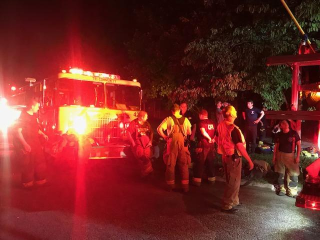 The Tri-Community Volunteer Fire Department responded to a call of a house fire in Ooltewah Thursday night. (Image: Hamilton Co. Sheriff's Office)