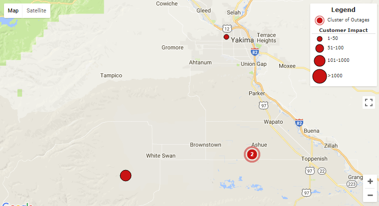 Power outages affect White Swan area