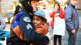 Boy who went viral in demonstration pic now missing after parents, siblings die in crash