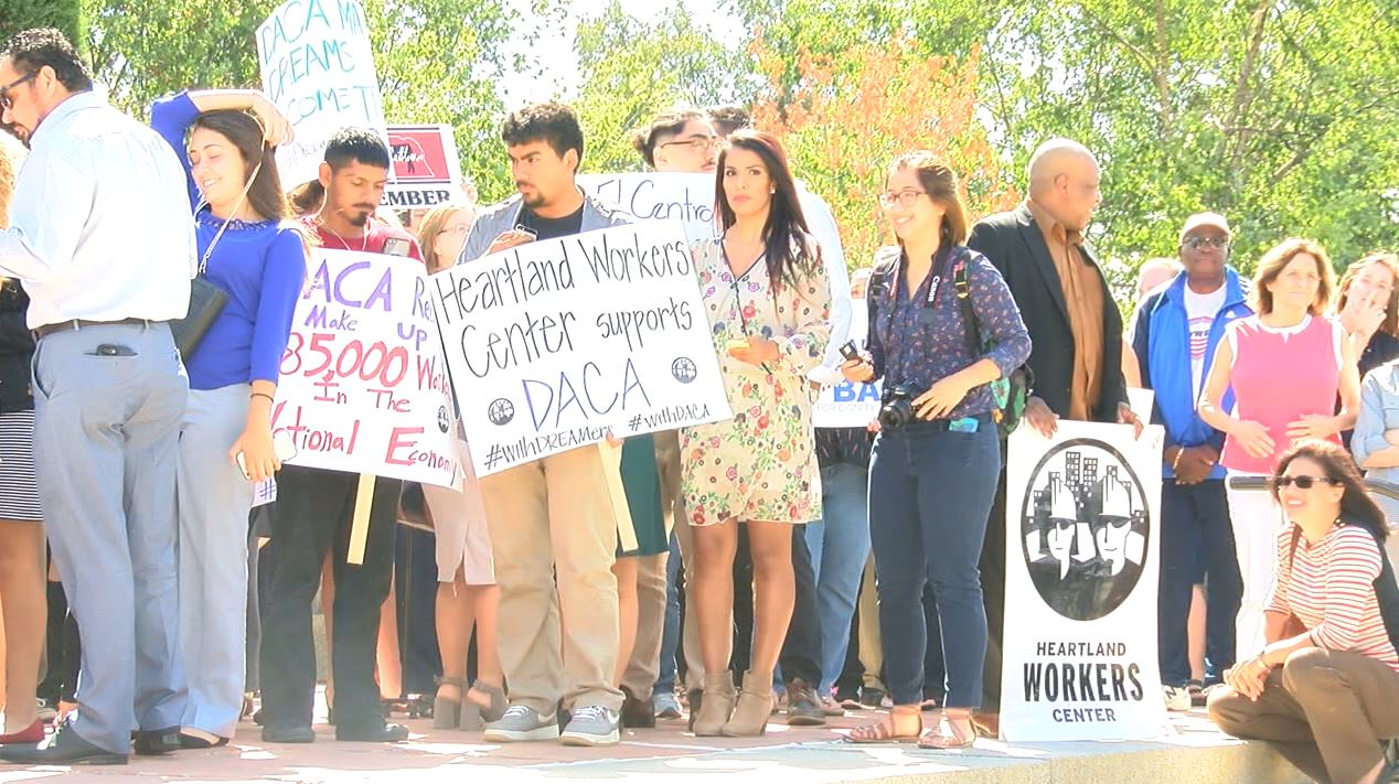 DACA youth and supporters rally at State Capitol on Tuesday afternoon (NTV News)