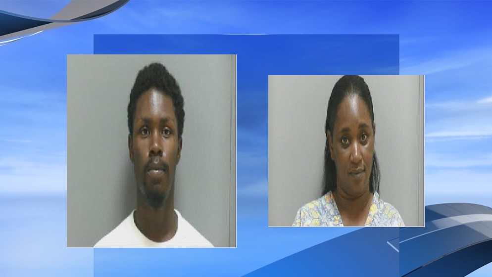 Aaron Hall and Shenkia Johnson have been charged in connection with a double murder that happened three weeks ago at the intersection of Southern Pine Street and Kirven Street in Darlington, according to Darlington Police Chief Daniel Watson. (Darlington County Detention Center. WPDE background)