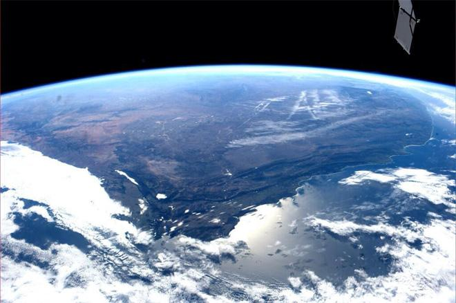 Capetown and almost all of South Africa (Photo & Caption courtesy Reid Wiseman (@Astro_Reid) and NASA)