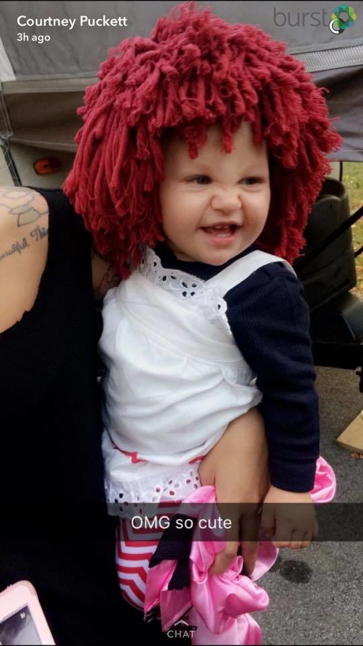 Callie Rae all dressed up as Raggedy Ann. Submitted on Burst