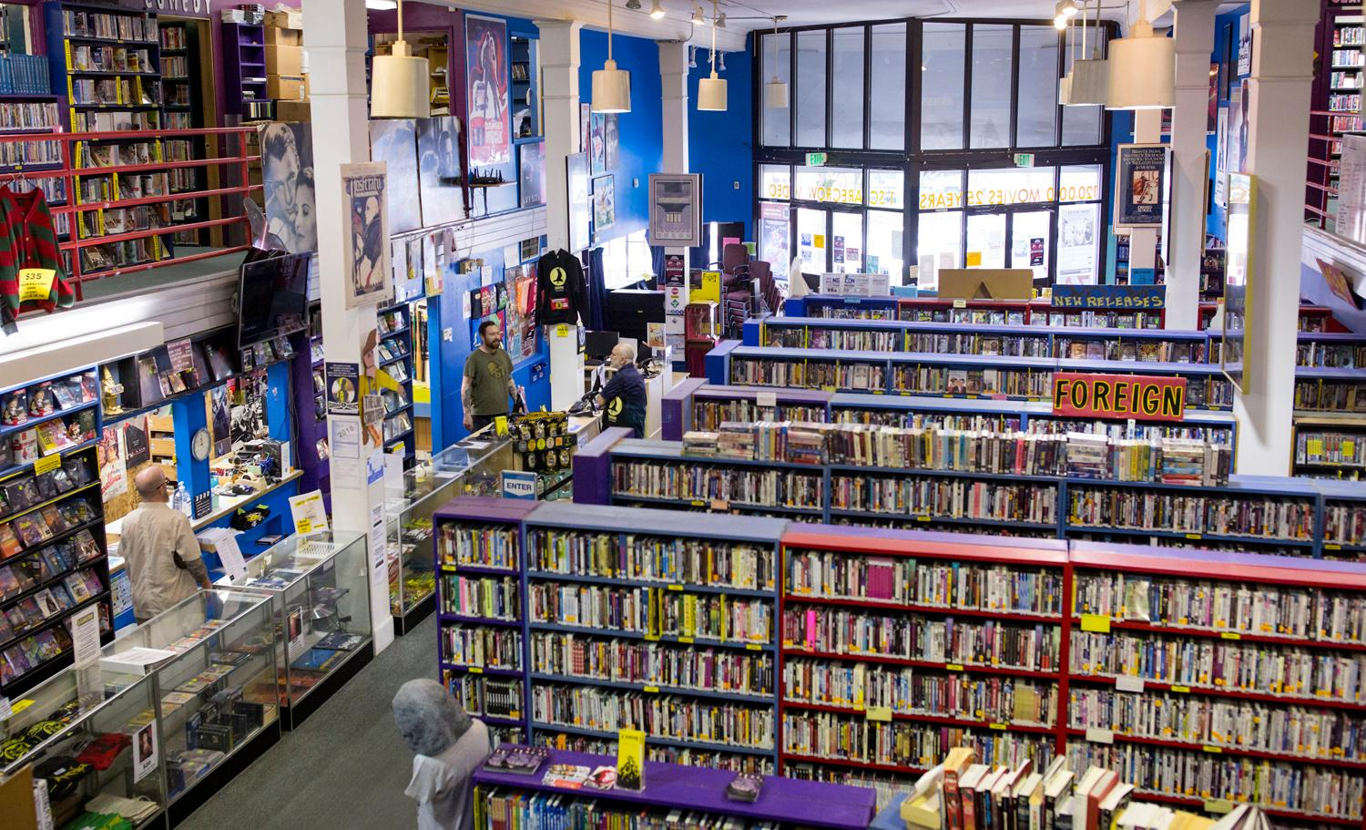 Scarecrow Video, the film rental store that has been serving Seattle and is home to over 131,000 titles, turns 30 this year. In 2014, the collection had grown to become such a significant archive that a non-profit was formed. The store continues to grow at a rate of 3,000-5,000 titles each year, representing 129 countries and over 126 languages. (Sy Bean / Seattle Refined)