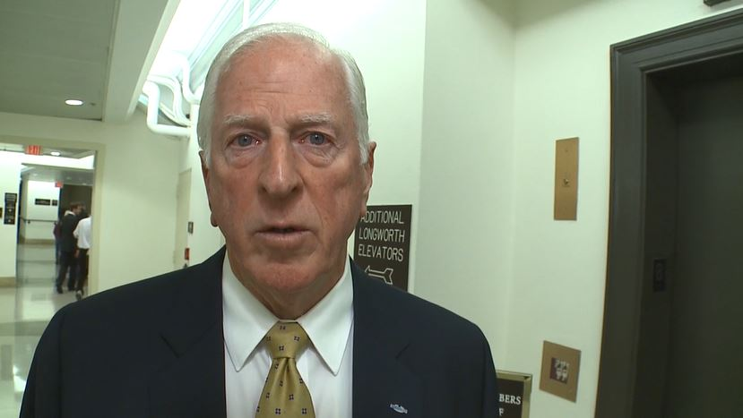 Rep. Mike Thompson, D-Calif., speaks to Sinclair Broadcast Group in the U.S. Capitol in Washington, Monday, Nov. 6, 2017. (Sinclair Broadcast Group)<p></p>