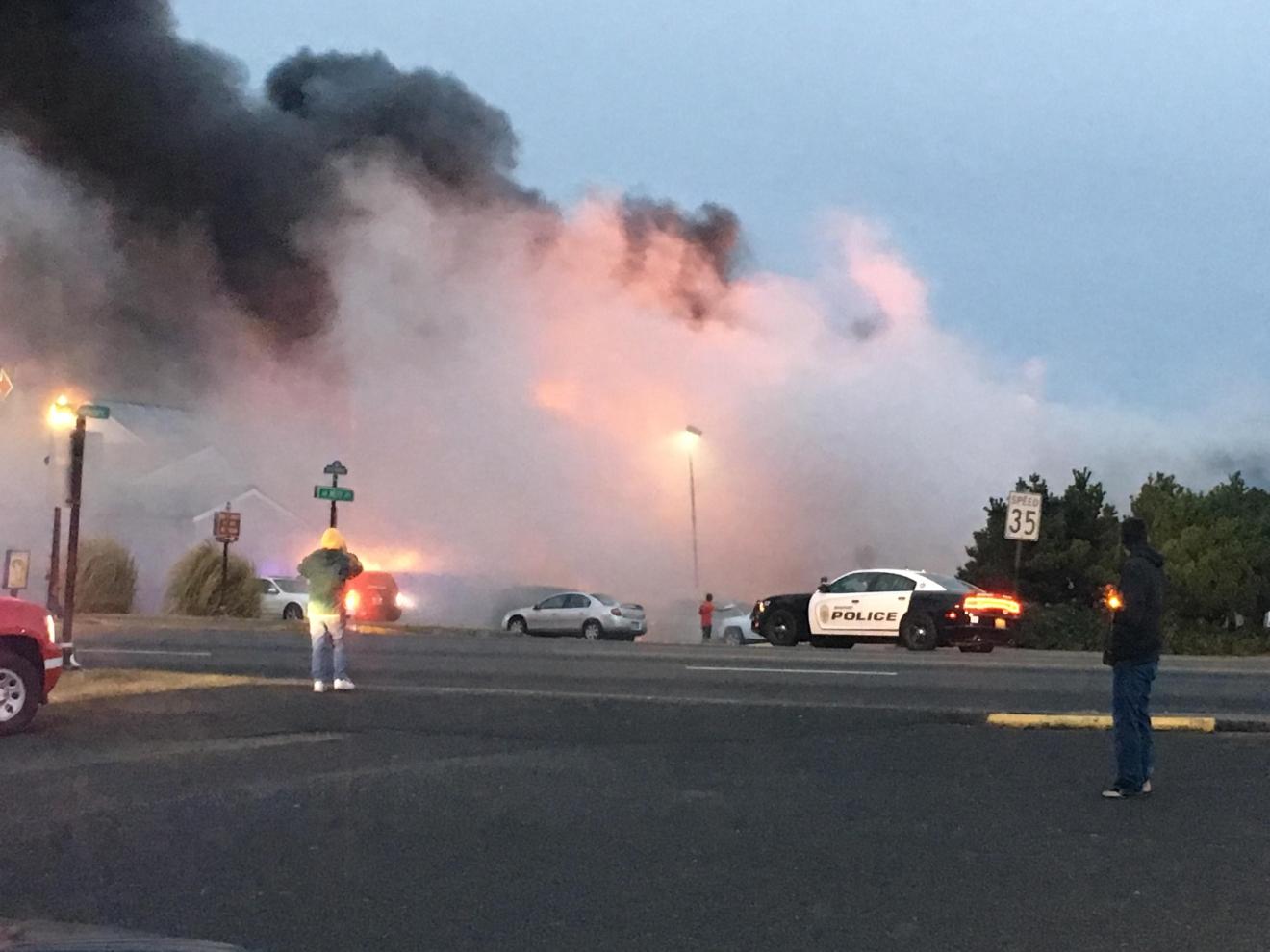 fire destroys newport motel three taken to the hospital. Black Bedroom Furniture Sets. Home Design Ideas