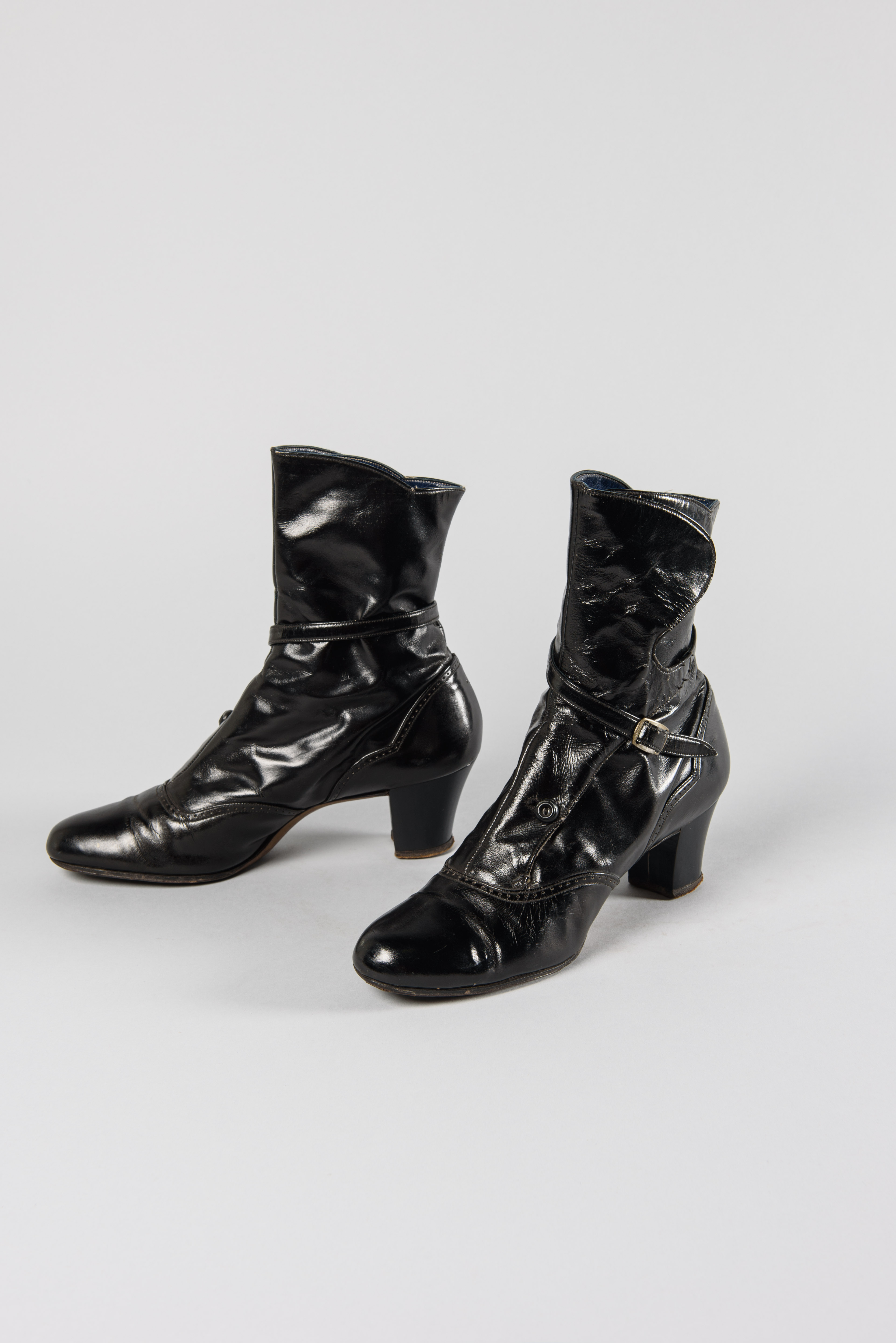 Heeled Boots, 1971, Wallin & Nordstrom, retailer. Gift of Mrs. Leona M. Bourke, copyright MOHAI Collection.{ }