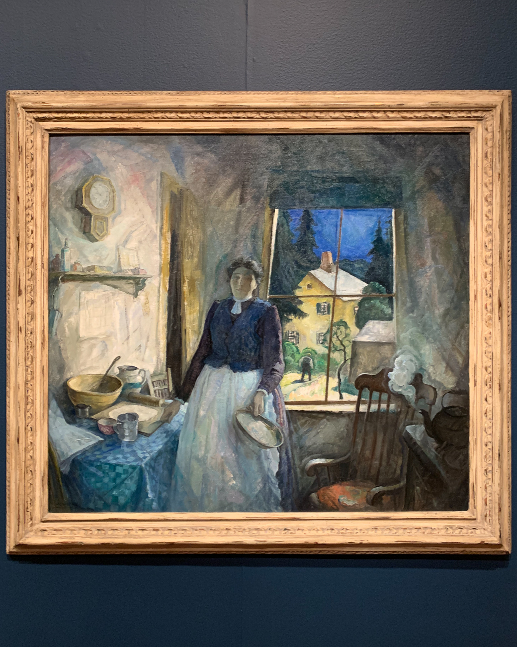 After his parents passed away, Wyeth painted My Mother (1920). In it, his brushstrokes are loose, creating a general haziness to the piece. One interpretation of this style is that Wyeth intended to paint a memory, which is never perfectly clear. The light coming in from the window highlights the clock on the wall, perhaps giving the viewer a sense of passing time. / Image: Phil Armstrong, Cincinnati Refined // Published: 2.9.20
