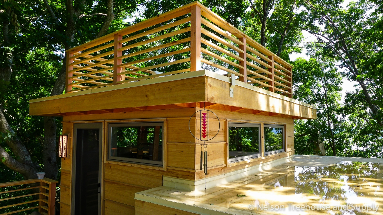"Many of us here in the PNW are familiar with 'Treehouse Masters', the Animal Planet show where Fall City's Pete Nelson and crew travel across the country to build incredible treehouses for a lucky few. With the show's next season right around the corner (Jan. 6), and the local connection - we thought we'd take a look at all the treehouses they built in 2016. We'll do one 'Treehouse of the Day' a day until we run out! Today we're looking at a treehouse fit for famed architect Frank Lloyd Wright that Pete and his crew built in Cadiz, Kentucky. The triple-decker ""treehome"" has a bedroom, kitchen and bathroom all on the shores of Lake Barkley. Full episodes at animalplanet.com. (Image: Animal Planet)"