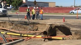 Lanes of Coffee Road closed after water main blowout