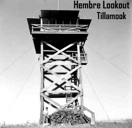 Hembre Lookout. Image from Oregon Department of Forestry display at 2014 Oregon State Fair. Images collected by department's Forest History Center in Salem, Ore.