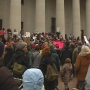 Hundreds of women march through downtown Columbus ahead of national women's march
