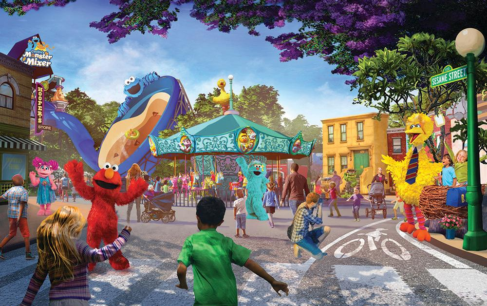 This undated artist rendering provided by PGAV Destinations shows a depiction of the new SeaWorld and Sesame Workshop theme park, which is scheduled to open in San Diego in 2021.{ } (PGAV Destinations via AP)