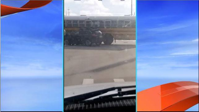 A school bus and an SUV collided in Port St. Lucie. (Ryan H.)<p></p>