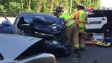Head-on collision leaves two seriously injured in Tukwila