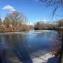 Thin ice warning issued after two girls fall through in Westbrook