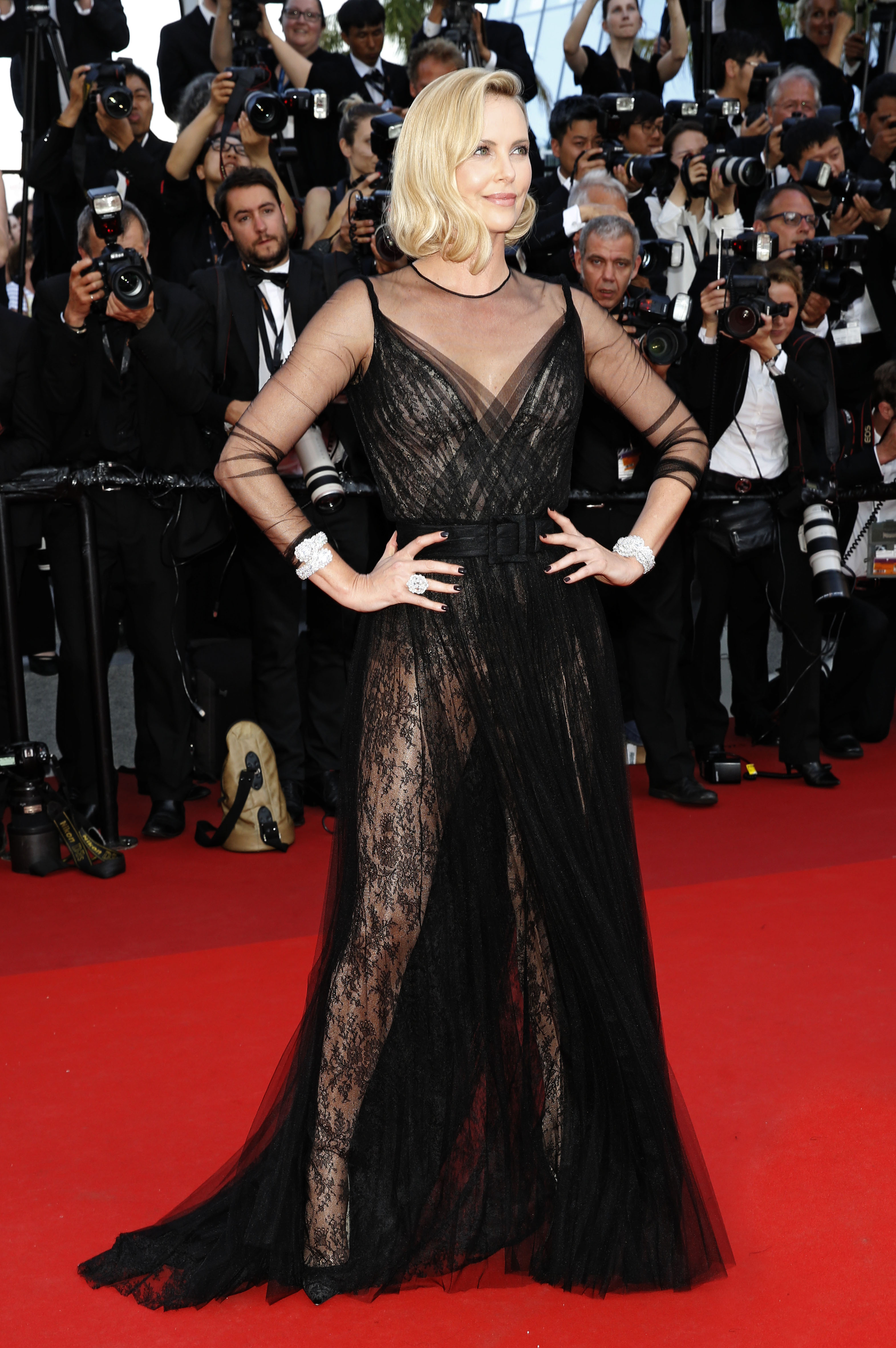 70th Annual Cannes Film Festival - 70th Anniversary Gala                                    Featuring: Charlize Theron                  Where: Cannes, Alpes-Maritimes, France                  When: 23 May 2017                  Credit: Dave Bedrosian/Future Image/WENN.com