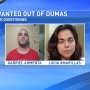 Dumas police searching for two people for questioning